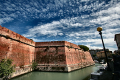 -The Fortress- (Roberto Rubiliani) Tags: architettura architecture ancient antico acqua canon culture cielo cultura clouds city città centre centro eos350d estate fortifications forte fort fortress history italia italy livorno leghorn mare mura walls nuvole past passato rubiliani robertorubiliani storia sky sea summer travel tuscany toscana urban viaggio water mattoni bricks