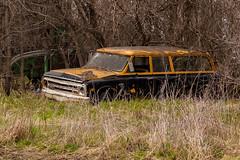 Abandoned Suburban (nikons4me) Tags: abandoned abandonment old decay rust 67chevsuburban chevrolet suburban nikond70 tamronaf70300mmf4056ldmacro ia iowa
