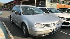(Sam Tait) Tags: 2001 mk4 german hatchback car door 3 petrol silver 20 gti golf volkswagen vw