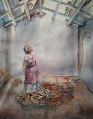 Tras el terremoto (benilder) Tags: méxico terremoto earthquake acuarela aquarelle watercolor soledad abandono loneliness lasolitude benilde