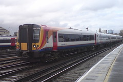 444028 (Rob390029) Tags: 444028 south west trains class 444 desiro train track tracks rail rails travel traveling transport transportation transit public emu electric multiple unit clapham junction railway station clj london red orange white blue colour colours colourful
