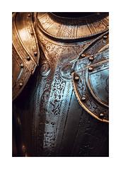 Medieval armor at the MAH museum in Geneva (Samuel Zeller) Tags: medieval armor weapon geneva switzerland swiss genf genève fujifilm detail closeup artefact artifact art artwork metal war ancient old
