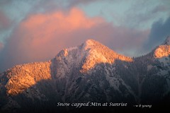 WBY9722-18 7D-400 Snow capped Mtn at Sunrise (wbyoungphotos) Tags: sun sunrise red clouds morning mountain snow cold wbyoungphotos 100400mm l lens 7d