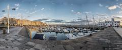 Santander (panoramica de 7 fotos) (alfonso-tm) Tags: panoramica puerto veleros edificios ciudad santander fujifilm yates mar agua