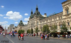 Red Square (Mahmoud R Maheri) Tags: redsquare moscow russia city capitalcity historiccenter buildings daylight sky bluesky clouds people historicbuilding