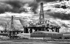 Offshore Rigs, Aberdeen (photographybytomlane) Tags: leica leicam9 oilrig aberdeen blackandwhite monochrome clouds