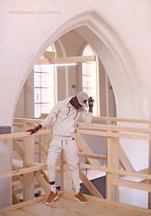 IMG_5489hhh (Defever Photography) Tags: black male model malemodel blackmodel ghana ghent belgium church white wood sweatpants cap blackmalemodel
