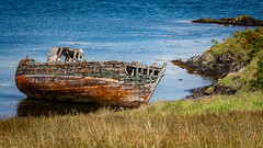 Shipwreck (bransch.photography) Tags: tranquil wooden color decay skeleton nature water isle oban outdoor kerrera shipwreck ship sea hebrides countryside blue abandoned ocean beautiful scotland rust rural island old boat europe coast marine vessel coastline colour seashore