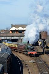 7802 Bradley Manor, Loughborough GCR 3/2/19 (David K- IOM Pics) Tags: gcr great central railway steam locomotive train loughborough br british rail 7802 collett manor class bradley