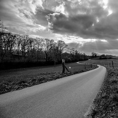 The Road (Velby) Tags: road way street landscapes blackwhite blackandwhite heiligenhaus bw