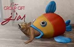 NEW! JIAN Group Gift @ Main Store ([JIAN]) Tags: secondlife mesh animals cats cat kitty jian fish decor home bed pets