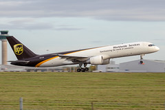 N431UP // UPS // B757-24APF // Stansted (SimonNicholls27) Tags: stn egss stansted ups b757 757f 757200f 75724apf freight airliner