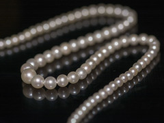 Jewellery, Tiny pearls (alderson.yvonne) Tags: macro monday macromonday jewellry pearls string antique tiny luster