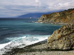 IMG_4793 (2) the stream meets the sea (jgagnon63@yahoo.com) Tags: bigsur bigsurcoast california californiacoast highway1 pacificocean