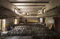 Cinema Ideal (Camera_Shy.) Tags: cinema ideal fellini derelict abandoned disused old building theatre exploration urban road trip seats rotten decayed urbex italy abandonment exploring decay light shadow decaying ue nikon d810 crumbling forgotten explorer tresspassing
