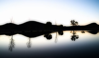 Cibolo Creek Ranch Pond Sunrise, West Texas