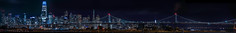 inner harbor skyline panorama (pbo31) Tags: eastbay alamedacounty bayarea california nikon d810 color night dark black april 2019 boury pbo31 sanfrancisco skyline city salesforce urban alameda island baybridge 80 panorama large stitched panoramic