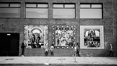 R3-022-9A (David Swift Photography) Tags: davidswiftphotography philadelphia westphiladelphia murals publicart africanheritage buildings 35mm ilfordxp2 olympusstylusepic doors windows mosaic