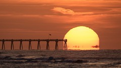 Stairway to Heaven (flintframer) Tags: sunrise florida pensacola beach pier nature landscapes gulfofmexico water sky wow dattilo canon eos 7d markll ef600mm