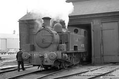 21/01/1961 - Port of London Authority, Millwall Docks, London. (53A Models) Tags: portoflondonauthority pla hudswellclarke hc18741954 060t 91 industrial steam millwalldocks train railway locomotive railroad london