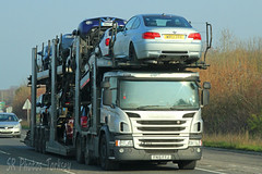 Scania P410 Car Transporter FN15 FYJ (SR Photos Torksey) Tags: transport truck haulage lorry lgv logistics hgv road commercial vehicle freight traffic scania car transporter