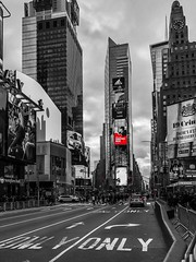 Times Square (Chris Montcalmo) Tags: architecture city colorsplash colorpop timessquare newyorkcity manhattan nyc