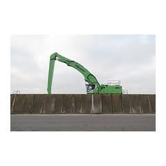 Green Machine (John Pettigrew) Tags: lines excavator d750 nikon sennebogen space mundane documentary plant imanoot angles machinery crane topographics tamron 2470mm green 850e banal documenting johnpettigrew