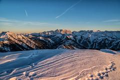 Zugspitze im Sonneuntergang vom Koflerjoch (stefangruber82) Tags: winter alpen alps snow schnee tirol tyrol mountains berge sunset sonnenuntergang