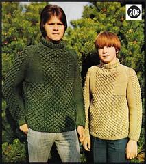 The Sportsman (sumsamasomava) Tags: boys bulky sweaters pullover malebeauty turtleneck knitting greenclothing