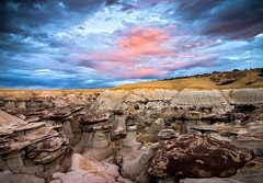 *** (valentina425) Tags: badlands wilderness nature landscape new mexico rocks hoodoo rainbow sunset sky rock