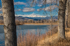 Pella Crossing (RkyMtnGrl) Tags: landscape nature scenery vista pond mountains cottonwoods trail hike openspaxce pellacrossingopenspace bouldercounty colorado hygiene 2019 morning winter february mtmeeker longspeak
