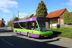 Chelmondiston (Chris Baines) Tags: ipswich buses optare versa yk08 epc chelmondiston 97 service shotley gate