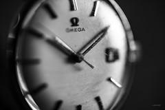 Pieces of time. (LACPIXEL) Tags: macromondays macro timepieces montre reloj clock watch time temps tiempo piece morceau aiguille manecilla hand omega sony blancoynegro blackwhite noiretblanc flickr lacpixel