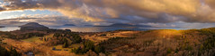 Sunrise over Lummi Island (EdBob) Tags: lummi island drone aerial landscape pacificnorthwest pugetsound salish sea above sanjuanislands water sunrise nature sky clouds farmland rural whatcomcounty phantom3 dji edmundlowe edmundlowephotography washington washingtonstate westernwashington panorama panoramic