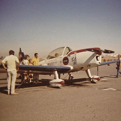 Art Scholl 1946 De Havilland Canada DHC-1B-2-S3 Super Chipmunk N13A c/n 149 Buchanan Field Concord California 1971. (planepics43) Tags: buchananfield airfaire superchipmunk doc1b2s3 149 concordairport artscholl aviation airport aircraft airplane flying flight aerobatics pilot pitts planes eaa oshkosh 17crossfeed claytoneddy airshow landing takeoff n13a tower taxi livermoreairport