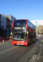 GAL EH83 - YY66OYM - CAMBERWELL ROAD - THUR 17TH JAN 2019 (Bexleybus) Tags: adl dennis enviro mmc goahead go ahead london walworth road se5 hybrid tfl route 42 eh83 yy66oym