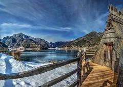 Panorama a Ledro (giannipiras555) Tags: lago inverno neve ghiaccio montagna landscape panorama collina cielo nuvole natura