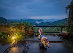 View from our B&B in Jiufen, Taiwan (TeunJanssen) Tags: jiufen view hills mountain village hdr taiwan rockinghorse horse olympus omd omdem10 worldtravel worldtrip backpacking