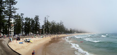 Foggy Manly panorama (LSydney) Tags: manly beach fog panorama surf