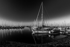 Jachthafen @ Black Sky (ThP.Photography) Tags: bw blackandwhite blackwhite blacksky heiligenhafen baltic outdoor ostsee sky germany water sun sea jachthafen hafen