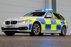 LD68 KFT (Ben - NorthEast Photographer) Tags: humberside police bmw 3series 330d estate traffic car rpu road policing unit anpr automatic number plate recognition camera system parked blues blue lights sirens fendoffs reflection 68plate brand new ld68 kft ld68kft