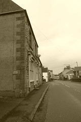 Church St facing north, Bradwell, Derbyshire (dave_attrill) Tags: peakdistrict nationalpark hopevalley village historic street cottages february 2019 winter sepia