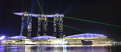 Marina Bay, Singapore, Malaysia. (Manoo Mistry) Tags: singapore malaysia holiday nikon nikond5500 tamron tamron18270mmzoomlens skyline building modernarchitecture nightscene night nightscape lightshow