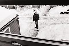 Morning cigarette. Oslo. (raymorgan4) Tags: oslo norway norge smoker snow street cigarette cold freezing icy smoking morning x100f urban fujifilm man standing alone monochrome acros black white winter coat