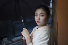 (Andrea Bernesco) Tags: japanesegirl japanese japan kyoto beautifulgirl portrait face leicam9 leica umbrella leica28summilux rein reining pontocho pontochō
