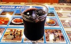 Chicha Morada (Human-Faced Bun & Honey Pudding) Tags: food foodporn peruvian restaurant cuisine drink beverage nonalcohol glass ice purple corn