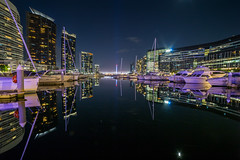 South Wharf (Jared Beaney) Tags: canon6d canon australia australian photography photographer travel victoria melbourne night reflections reflection southwharf docklands wharf city