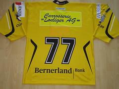 #77 Sandro STEINER Game Worn Jersey (kirusgamewornjerseys) Tags: 1 liga game worn jersey ice hockey switzerland eishockey ehc burgdorf sandro steiner sandrosteiner
