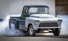 Old School (Paul Rioux) Tags: vehicle motorsport drag racing gmc chevrolet pickup truck burnout smoke sislra prioux old vintage classic