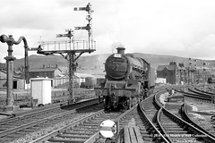 24/08/1963 - Skipton, West Riding of (now North) Yorkshire. (53A Models) Tags: britishrailways stanier lms jubilee 6p 460 45601 britishguiana steam skipton westyorkshire train railway locomotive railroad